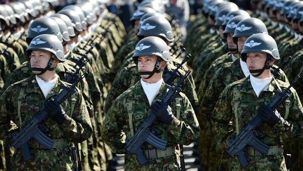 Japonští vojáci během vojenské přehlídky - Sputnik Česká republika