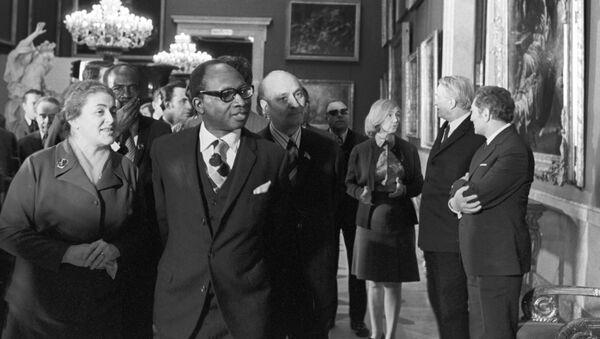 Tehdejší prezident Gambier Dawda Kairaba Jawara v sovětském Leningradu (Petrohrad). 1975 - Sputnik Česká republika