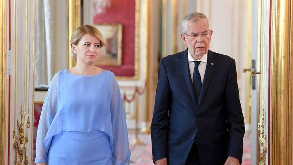 Setkání slovenské prezidentky Zuzany Čaputové a rakouského prezidenta Alexandera Van der Bellena - Sputnik Česká republika