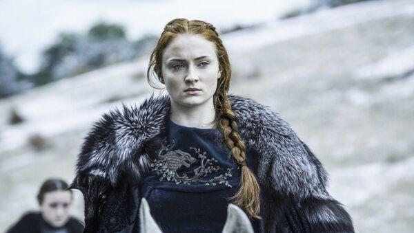 Herečka Sophie Turner jako Sansa Starková v seriálu Hra o trůny - Sputnik Česká republika
