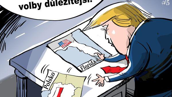 Trump kvůli hurikánu nepoletí do Polska - Sputnik Česká republika
