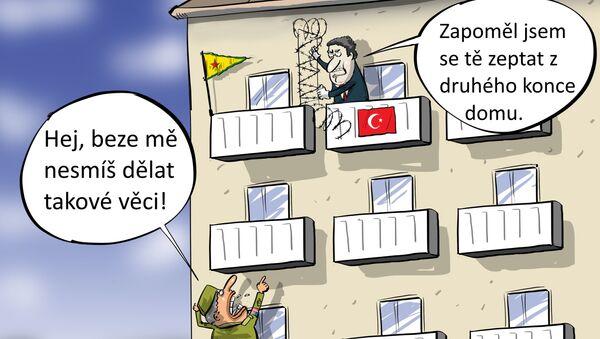 Zóna tureckého hospodářství v Sýrii bez USA? - Sputnik Česká republika