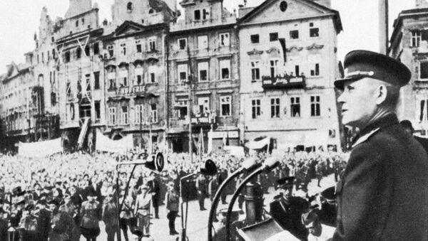Maršál Ivan Stěpanovič Koněv v Praze - Sputnik Česká republika