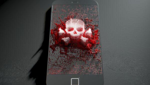 Lebka na smartphonu - Sputnik Česká republika
