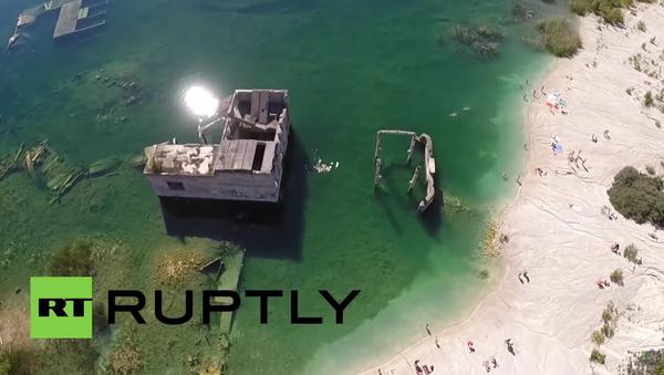 Estonsko: Sovětská podvodní věznice z ptačí perspektivy - Sputnik Česká republika