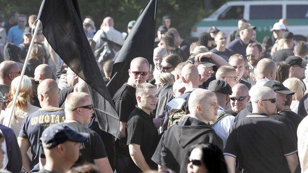 Demonstranti v Dortmundu - Sputnik Česká republika
