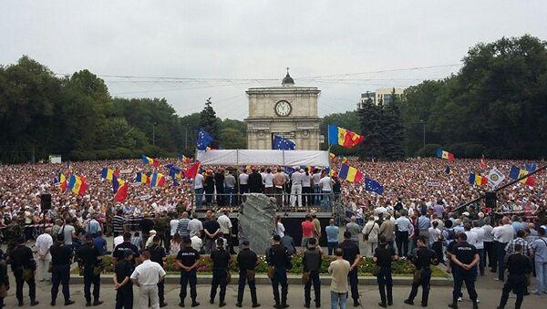 Demonstrace v Moldávii - Sputnik Česká republika