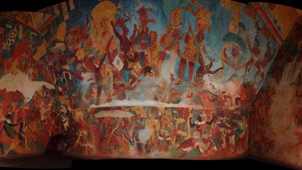 Rekonstrukce fresky mayské civilizace - Sputnik Česká republika