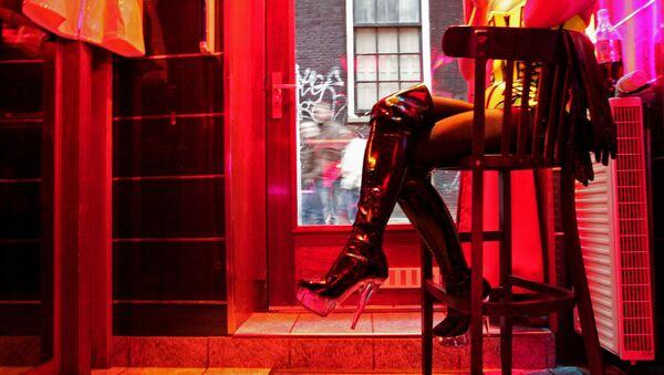čtvrť červených luceren v Amsterdamu - Sputnik Česká republika