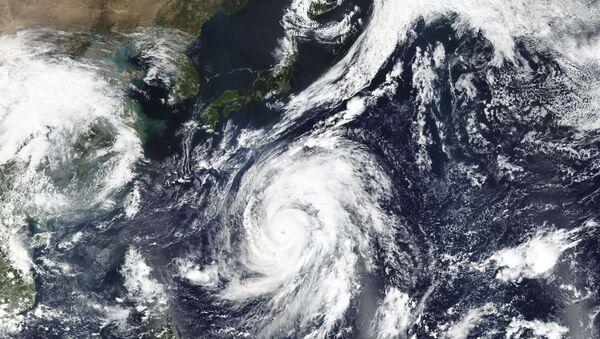 Foto tajfunu Hagibis z vesmíru - Sputnik Česká republika