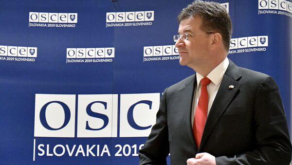 Úřadující předseda Organizace pro bezpečnost a spolupráci v Evropě (OBSE), slovenský ministr zahraničí Miroslav Lajčák - Sputnik Česká republika