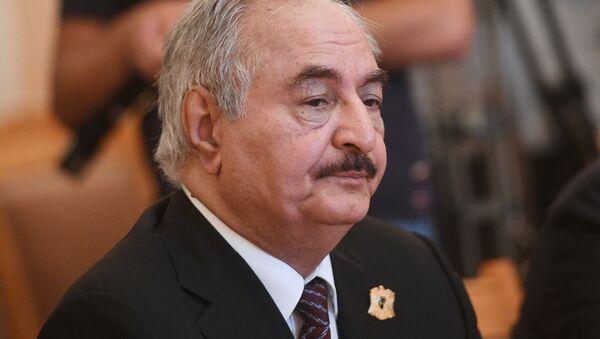 Vůdce Libyjské národní armády maršál Chalífa Haftar - Sputnik Česká republika