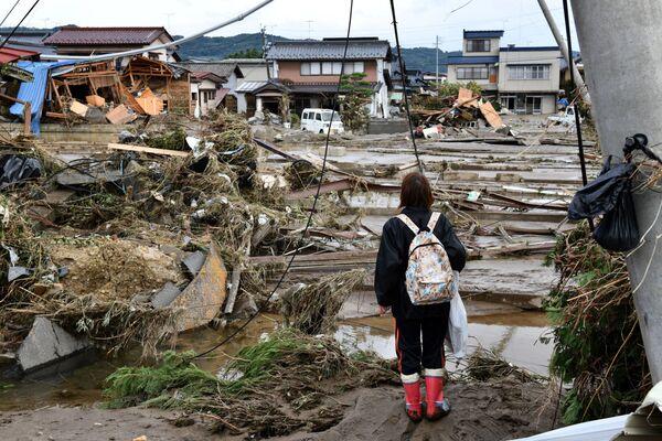 Následky tajfunu Hagibis v Japonsku. - Sputnik Česká republika