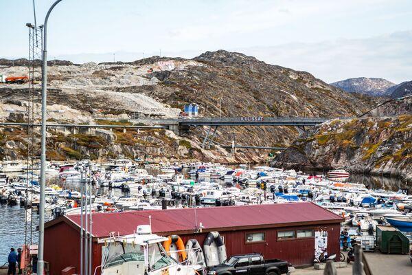 Loděnice ve městě Ilulissat na ostrově Grónsko. - Sputnik Česká republika