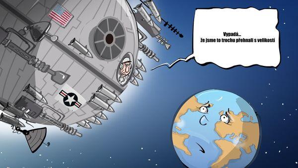 Karikatura Na velikosti záleží?  - Sputnik Česká republika