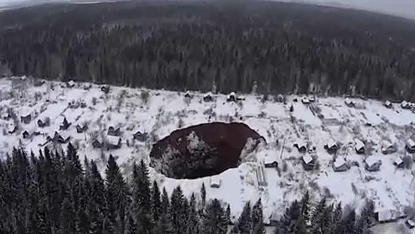 Obrovský závrt na Urale - Sputnik Česká republika
