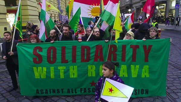 Pražský protest proti turecké invazi v Sýrii - Sputnik Česká republika