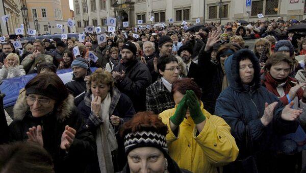 Učitelé protestují proti neodpovídajícím platům v Praze, 2007 - Sputnik Česká republika