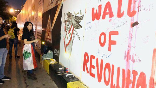 Protesty v Bejrútu - Sputnik Česká republika