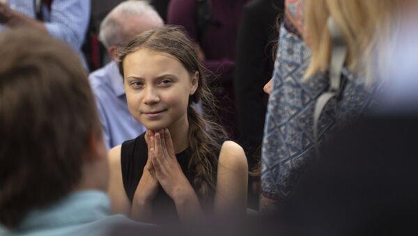 Švédská ekologická aktivistka Greta Thunbergová  - Sputnik Česká republika