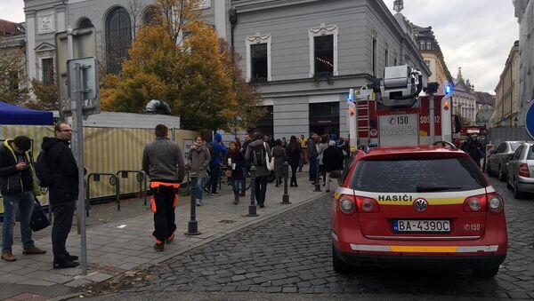 Slovenští hasiči. Budova Staré tržnice, Bratislava - Sputnik Česká republika