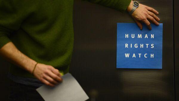Logo neziskové organizace Human Rights Watch - Sputnik Česká republika