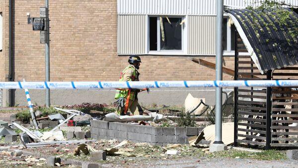 Výbuch v univerzitním městě Linköping, Švédsko, červen 2019 - Sputnik Česká republika