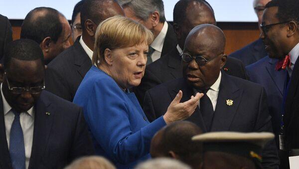 Angela Merkelová na Africké konferenci v Berlíně  - Sputnik Česká republika