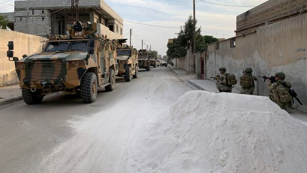 Turečtí vojáci na severu Sýrie - Sputnik Česká republika