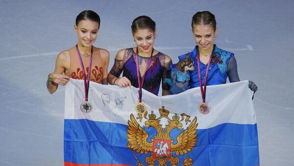 Ruské krasobruslařky obsadily celé pódium ve finále Grand Prix v Turínu - Sputnik Česká republika