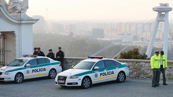 Policie v Bratislavě. Ilustrační foto - Sputnik Česká republika