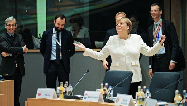 Angela Merkelová během summitu EU, Brusel - Sputnik Česká republika