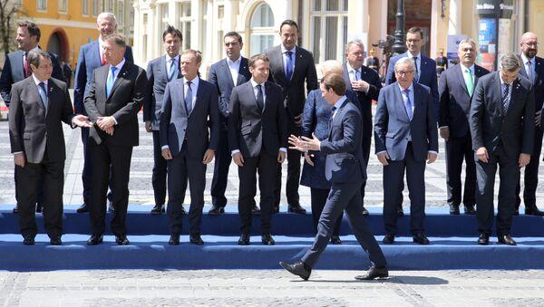 Vedoucí představitelé EU na summitu v rumunském Sibiu - Sputnik Česká republika