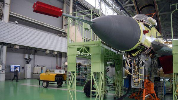 MiG-35 v montážní dílně Luchovického leteckého závodu - Sputnik Česká republika
