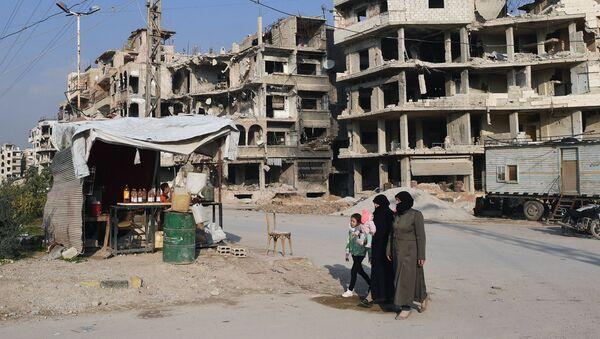 Prodej paliva na předměstí v Damašku - Sputnik Česká republika