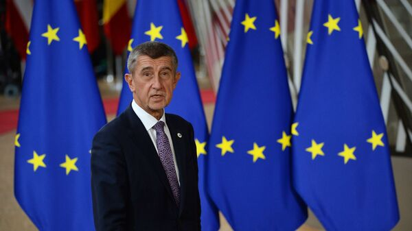 Český premiér Andrei Babiš na Summitu EU v Bruselu - Sputnik Česká republika