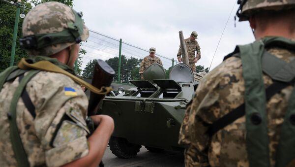 Američtí vojáci během cvičení na Ukrajině - Sputnik Česká republika
