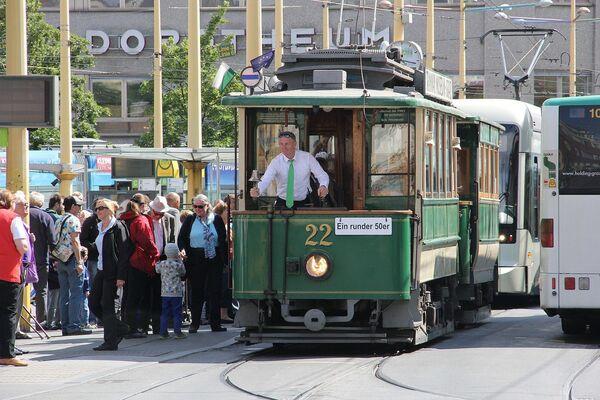 Starodávná tramvaj v rakouském městě Štýrský Hradec - Sputnik Česká republika