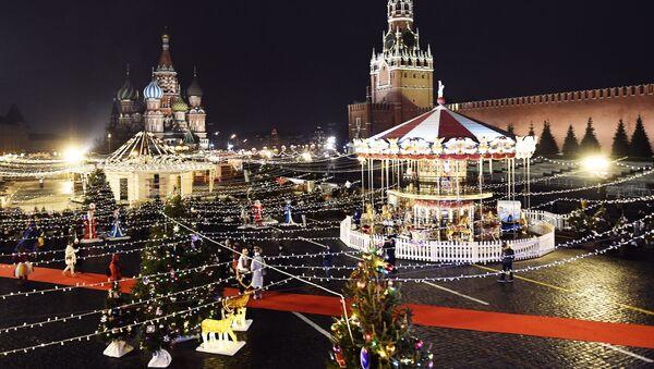 Kluziště a jarmark na Rudém náměstí, Moskva - Sputnik Česká republika