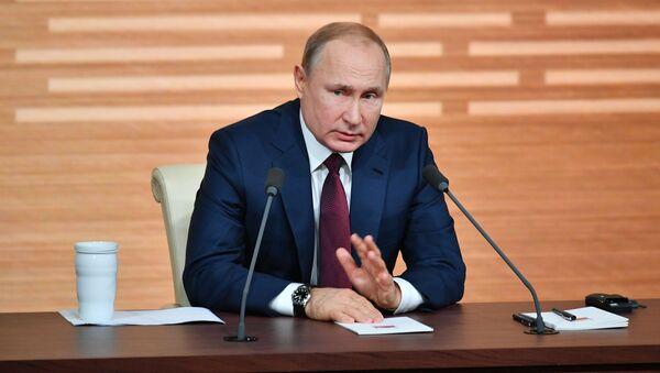 Tisková konference Vladimira Putina (19. 12. 2019) - Sputnik Česká republika