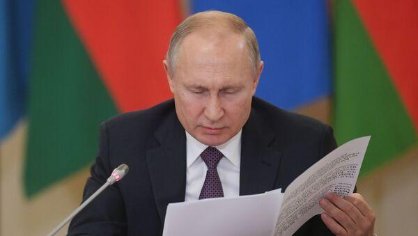 Vladimir Putin na setkání vůdců SNS - Sputnik Česká republika