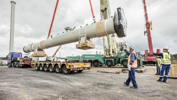 Stavba plynovodu Nord Stream 2 (ilustrační foto) - Sputnik Česká republika