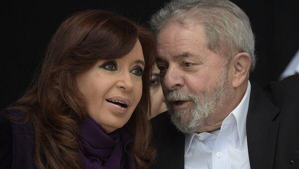 Argentinská prezidentka Cristina Kirchner a bývalý prezident Brazílie Luiz Inácio da Silva - Sputnik Česká republika