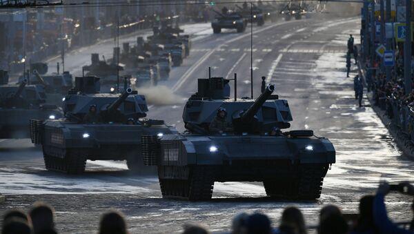 Tank T-14 Armata 9. května v Moskvě - Sputnik Česká republika
