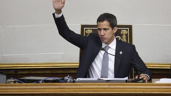 Šéf Národního shromáždění a lídr opozice Juan Guaidó. - Sputnik Česká republika