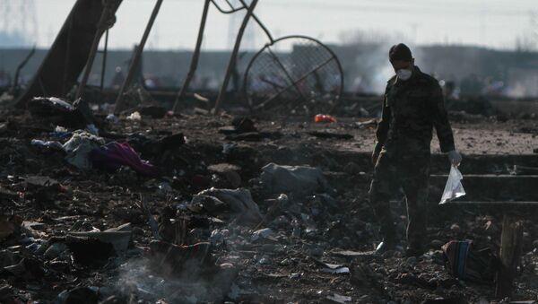 Na místě katastrofy letadla Boeing 737-800 - Sputnik Česká republika