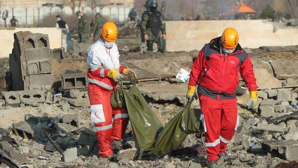 Místo pádu ukrajinského letadla  - Sputnik Česká republika