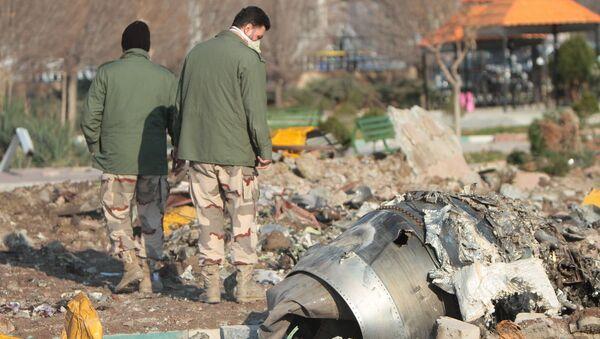 Misto havárie ukrajinského Boeingu 737-800 v Íránu - Sputnik Česká republika