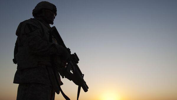Americký voják na vojenské základně v Iráku - Sputnik Česká republika