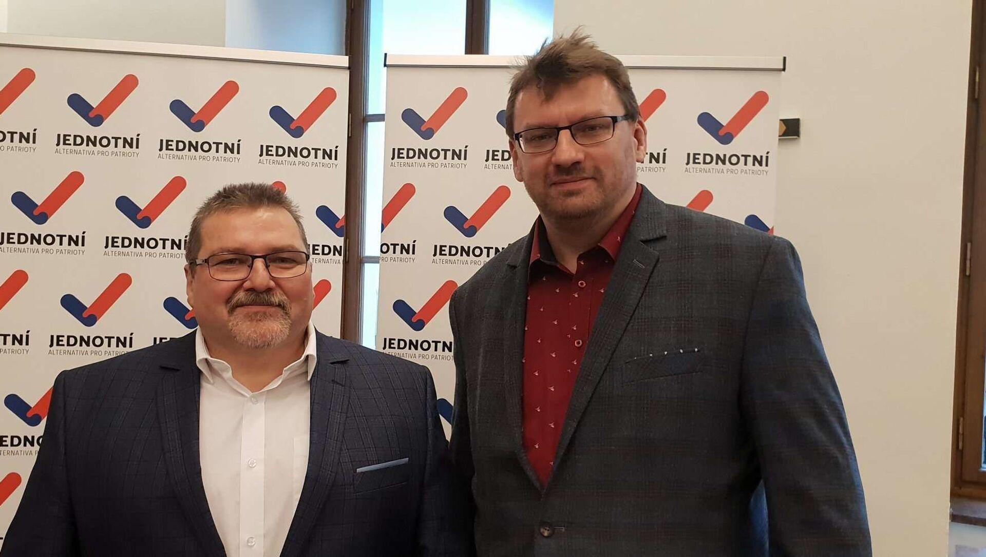 Čeští poslanci za Jednotní – alternativa pro patrioty Marian Bojko a Lubomír Volný - Sputnik Česká republika, 1920, 10.02.2021